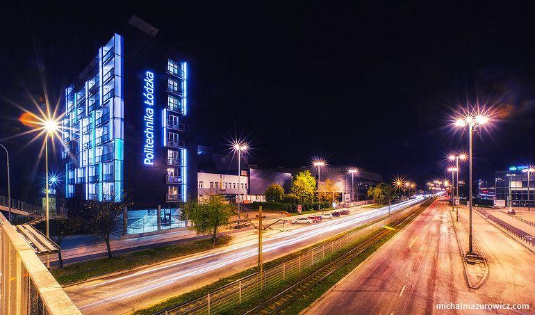 City at night - Łódź